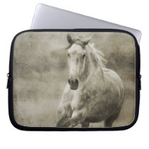Rustic Galloping Andalusian Horse Laptop Sleeve