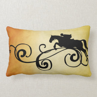 Rustic Galloping Andalusian Horse Lumbar Pillow