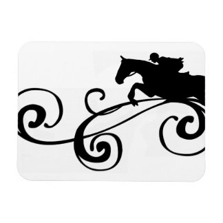 Rustic Galloping Andalusian Horse Magnet