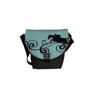 Rustic Galloping Andalusian Horse Courier Bags
