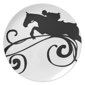 Rustic Galloping Andalusian Horse Plate