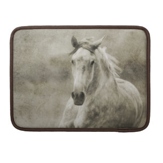 Rustic Galloping Andalusian Horse Sleeve For MacBooks