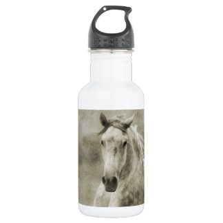 Rustic Galloping Andalusian Horse Stainless Steel Water Bottle