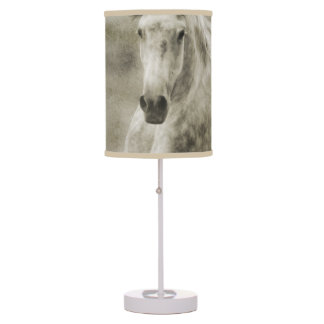 Rustic Galloping Andalusian Horse Table Lamp