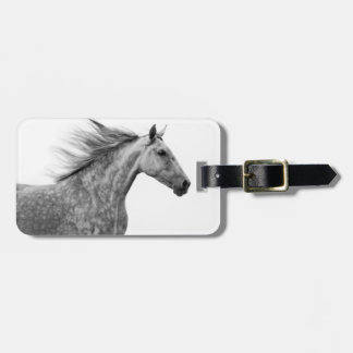 Rustic Galloping Andalusian Horse Tag For Bags