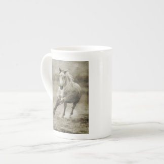 Rustic Galloping Andalusian Horse Tea Cup