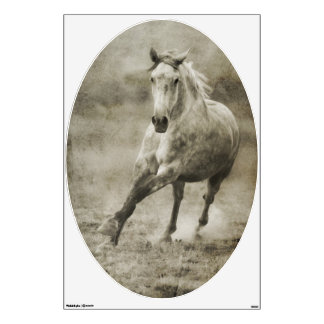 Rustic Galloping Andalusian Horse Wall Sticker