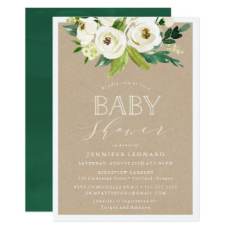 Rustic Garden Blooms | Baby Shower Invitation