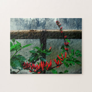 Rustic Garden Floral Jigsaw Puzzle