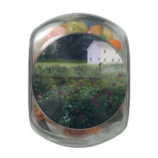 Rustic Garden Glass Jar