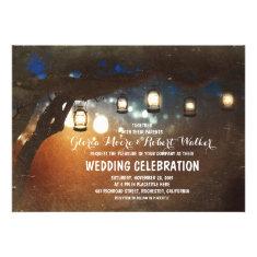 rustic garden lights lanterns wedding invites