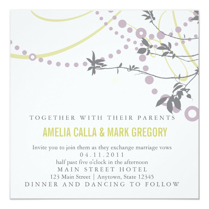 Rustic Garden Wedding Invitation