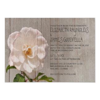 "Rustic Gardenia Wedding Invitations 5"" X 7"" Invitation Card"