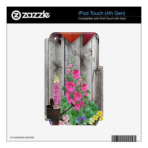Rustic Gardens Decal For iPod Touch 4G