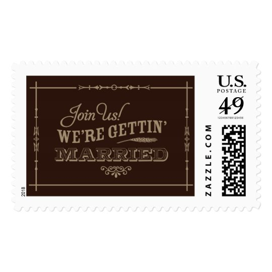 Rustic Getting Married | Atelier Isabey Stamps