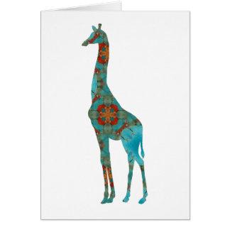 Rustic Giraffe Card
