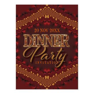 Rustic Glitter Dinner Party Invitations
