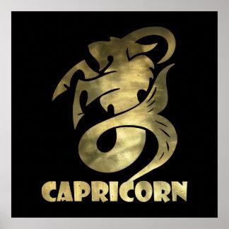 Rustic Gold Capricorn Goat 2 Poster