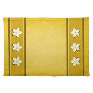 Rustic Gold Floral MoJo Table Place Mats