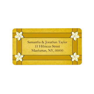 Rustic Gold Floral Return Address Labels Favors