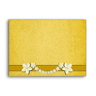 Rustic Gold Floral Wedding Custom Envelopes