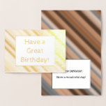 """[ Thumbnail: Rustic Gold Foil """"Have a Great Birthday"""" Card ]"""