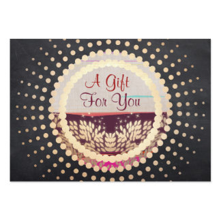 Rustic Gold Framed Horizon Logo Gift Card Large Business Cards (Pack Of 100)