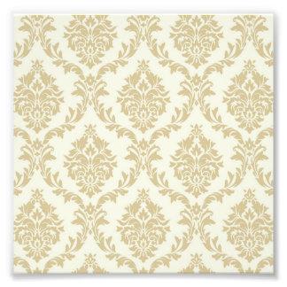 rustic gold,ivory,vintage,damasks,victorian,floral photo print