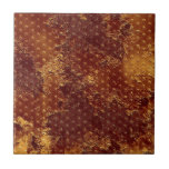 Rustic Gold Stars Pattern Small Square Tile