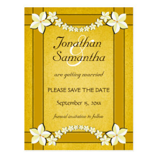 Rustic Gold Wedding Save The Date Announcements Postcard