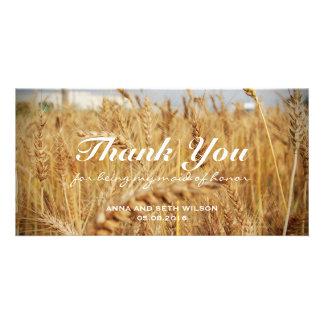 Rustic Golden Barley Bridesmaid Card