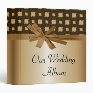 Rustic Golden Bow & Rope Country Wedding Binder