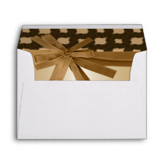 Rustic Golden Bow & Rope Country Wedding Envelope