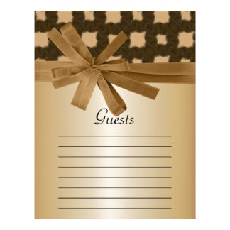 Rustic Golden Bow & Rope Country Wedding Letterhead