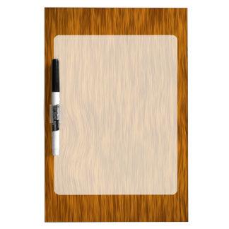 Rustic Golden Wood Look Dry Erase Board