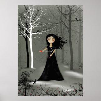 Rustic Goth Melancholy Girl Poster