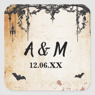 Rustic Gothic Frame Halloween Stickers Labels