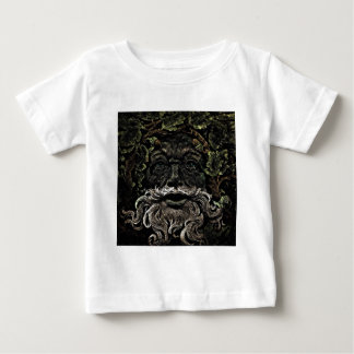 rustic gothic looking old man in leaves design baby T-Shirt