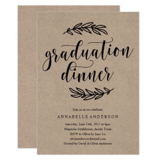 Graduation Dinner Invitations Announcements Zazzle