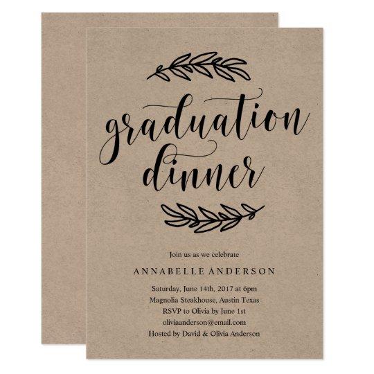 rustic graduation dinner invitation zazzle com