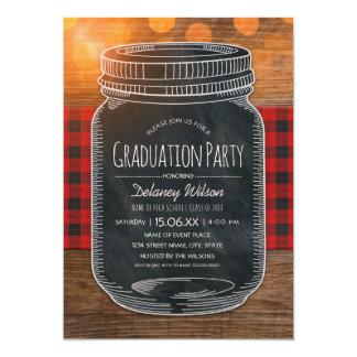 Rustic Graduation Party Unique Country Mason Jar Card
