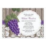 """Rustic Grape Bridal Shower Invitations 5"""" X 7"""" Invitation Card"""