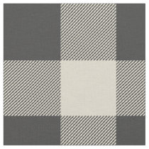 Rustic Gray and Beige Buffalo Plaid Fabric