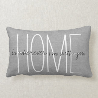 Rustic Gray Home Lumbar Pillow