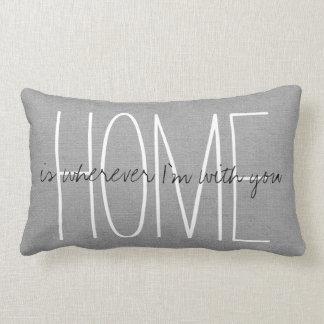 Rustic Gray Home Lumbar Pillow