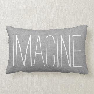 Rustic Gray Imagine Lumbar Pillow