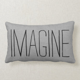 Rustic Gray Imagine Lumbar Pillow