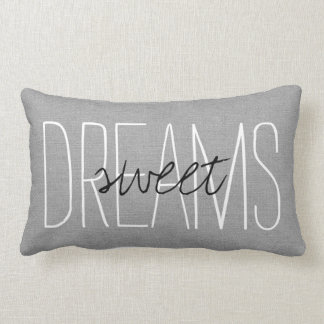 Rustic Gray Sweet Dreams Lumbar Pillow