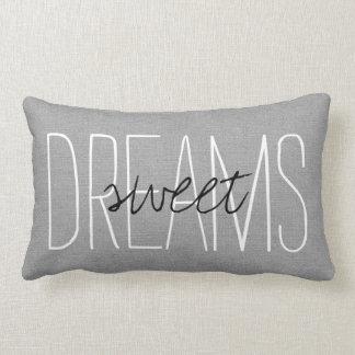 Rustic Gray Sweet Dreams Lumbar Pillow
