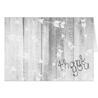 Rustic Grayscale Boho Arrows on Wood Card